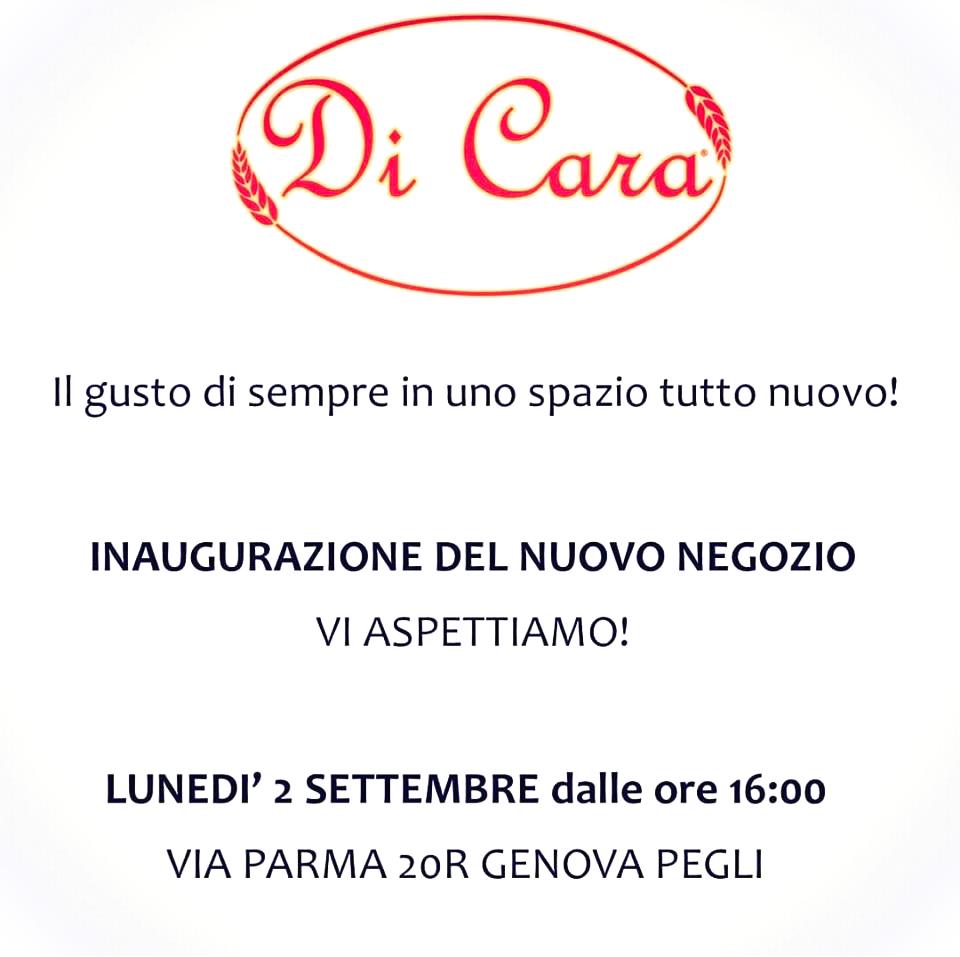 Inaugurazione nuovo negozio - Focacceria Pasticceria Di Cara - Genova Pegli