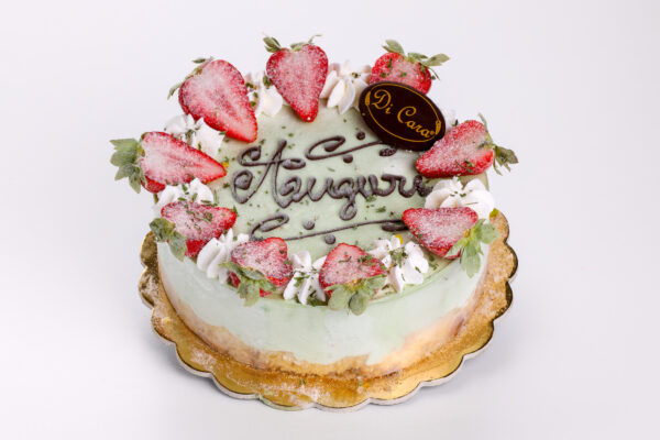 torta con fragole - torte - pasticceria focacceria di cara - genova pegli