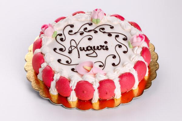 torta con macarones - torte - pasticceria focacceria forno di cara - genova pegli