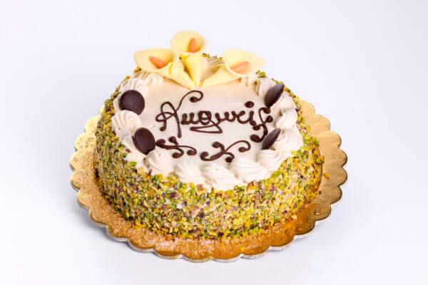 torta pistacchio - torte - pasticceria focacceria forno di cara - genova pegli