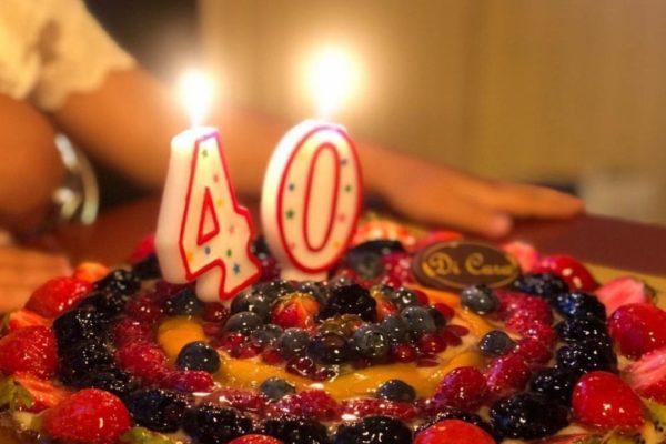 torta 40esimo