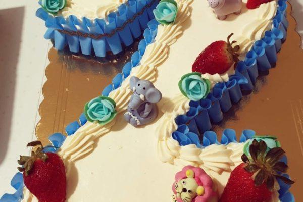 torta compleanno numero