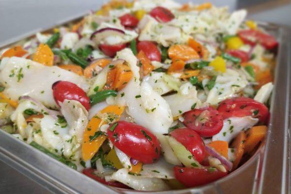 insalata di stoccafisso gastronomia Di Cara